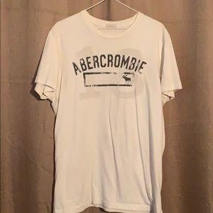 Men's White Abercrombie Tee